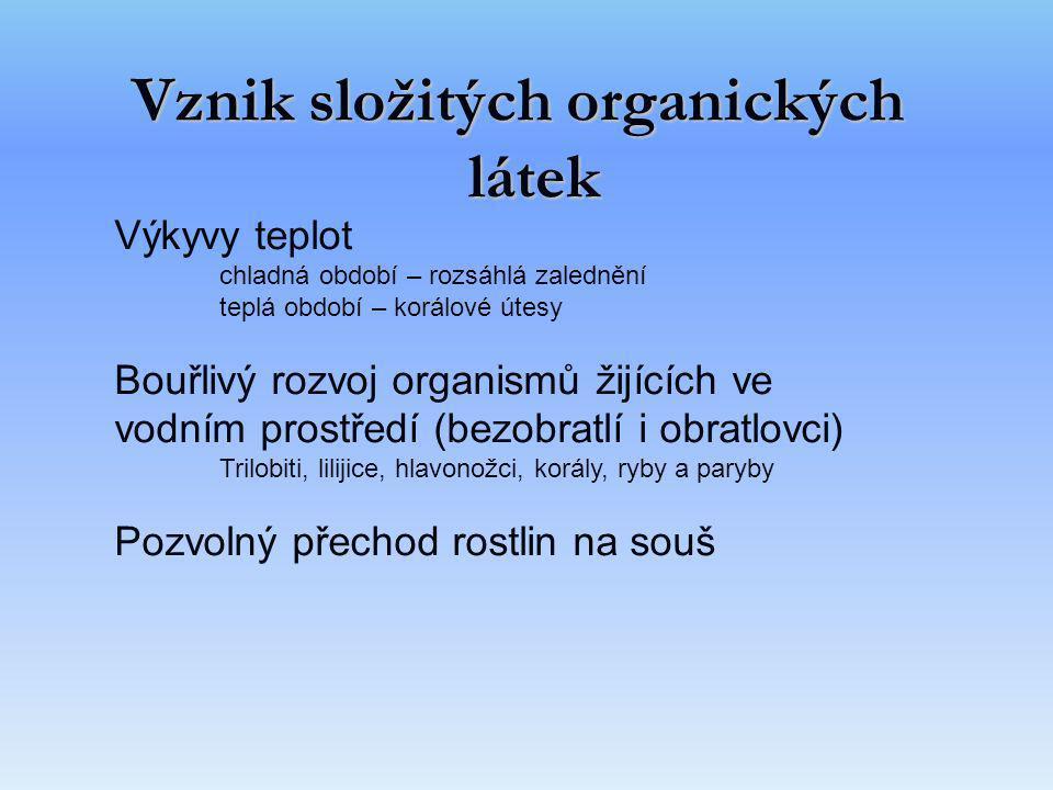 Vznik složitých organických látek