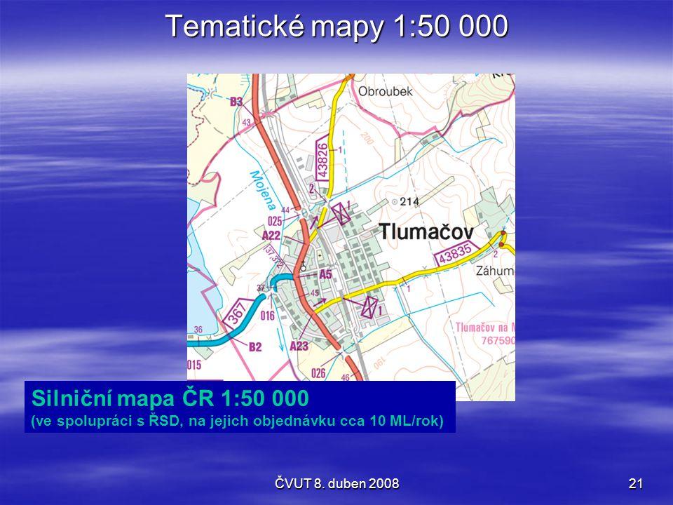 Tematické mapy 1:50 000 Silniční mapa ČR 1:50 000