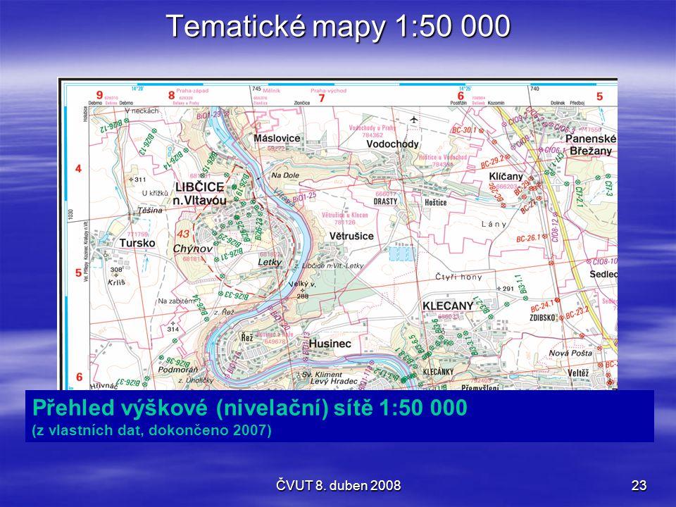 Tematické mapy 1:50 000 Přehled výškové (nivelační) sítě 1:50 000