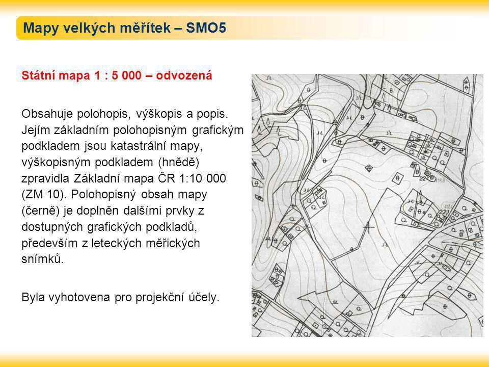 Mapy velkých měřítek – SMO5