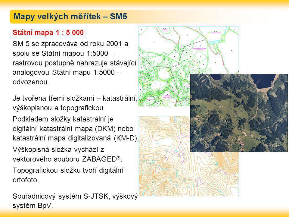 Mapy velkých měřítek – SM5