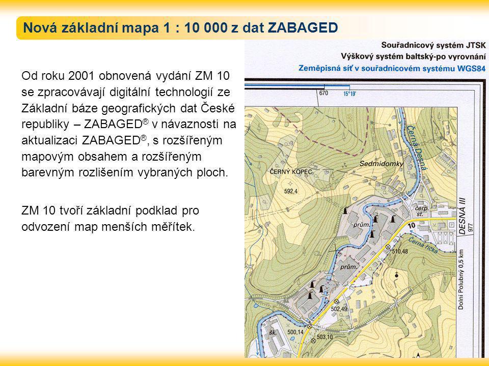 Nová základní mapa 1 : 10 000 z dat ZABAGED