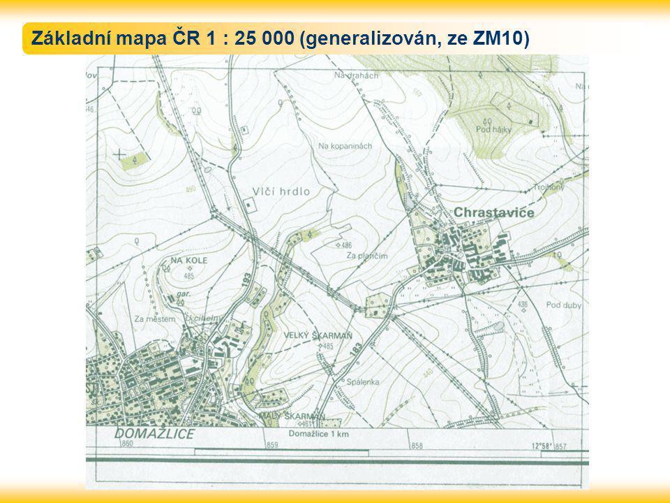Základní mapa ČR 1 : 25 000 (generalizován, ze ZM10)