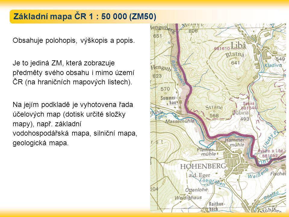 Základní mapa ČR 1 : 50 000 (ZM50)
