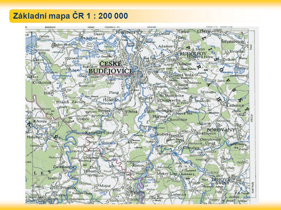 Základní mapa ČR 1 : 200 000