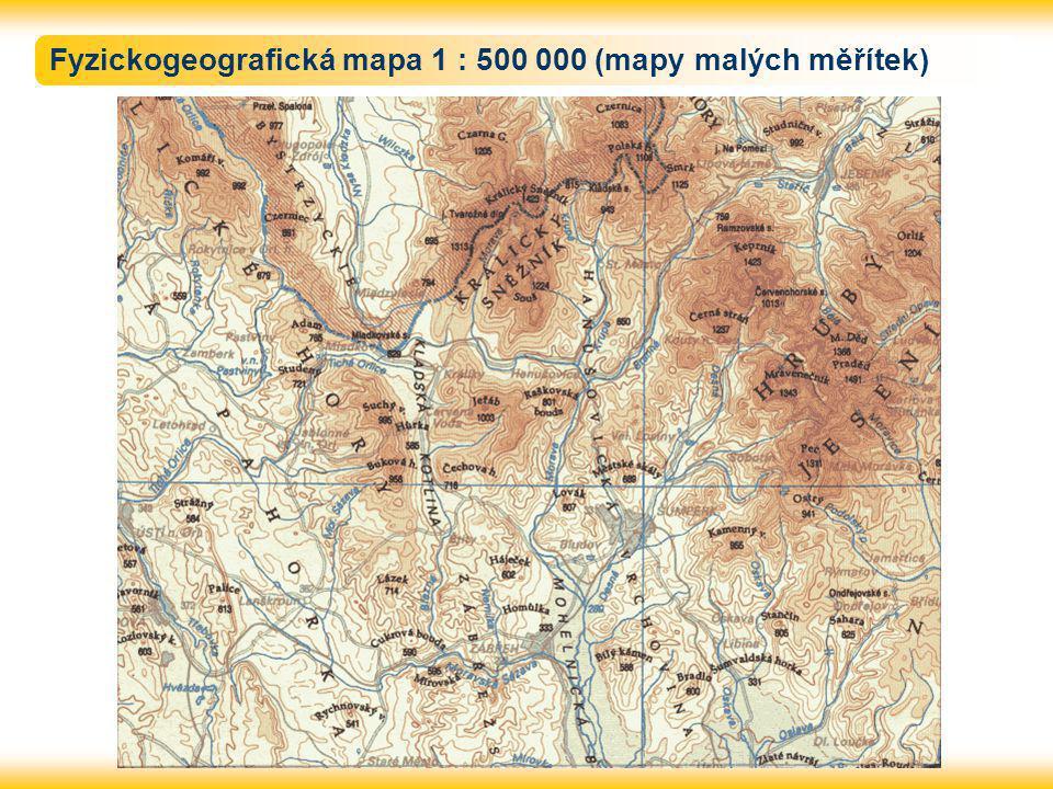 Fyzickogeografická mapa 1 : 500 000 (mapy malých měřítek)