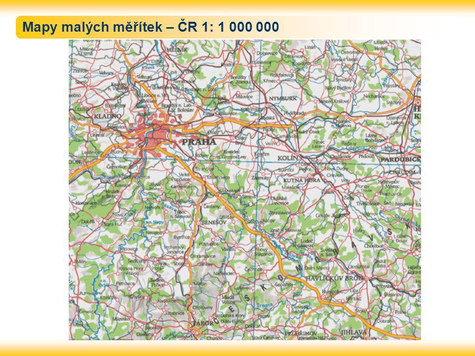 Mapy malých měřítek – ČR 1: 1 000 000