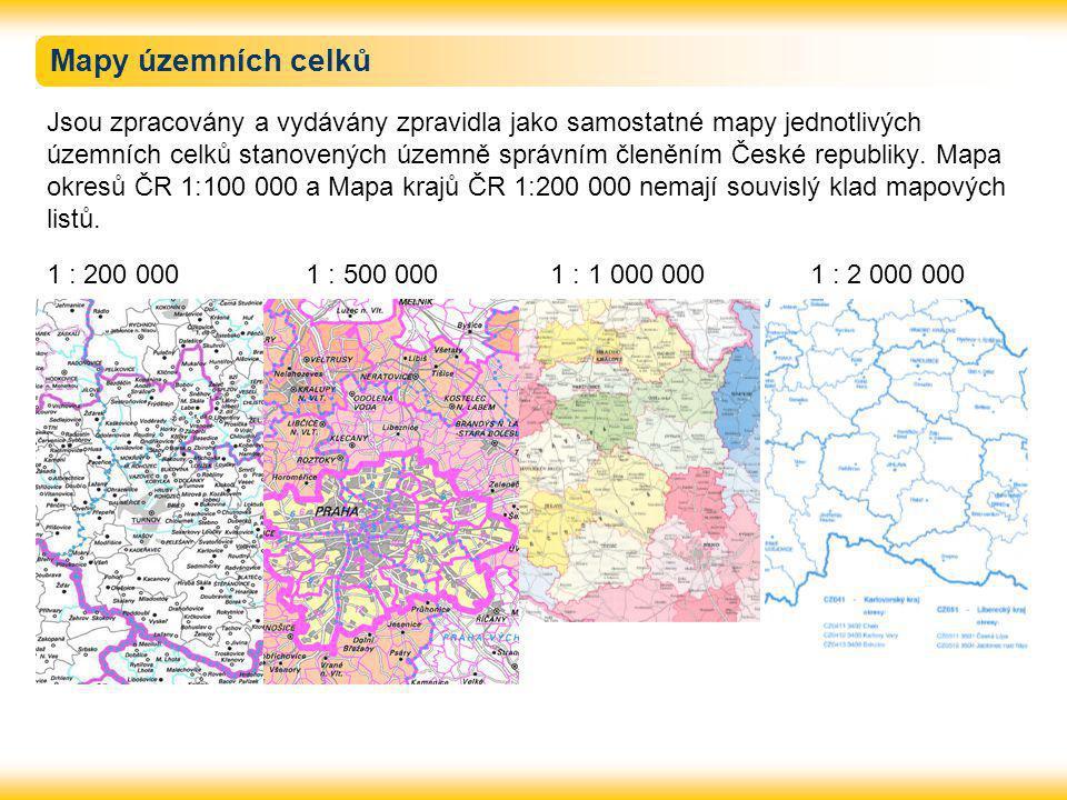Mapy územních celků