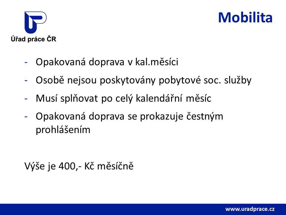 Mobilita Opakovaná doprava v kal.měsíci