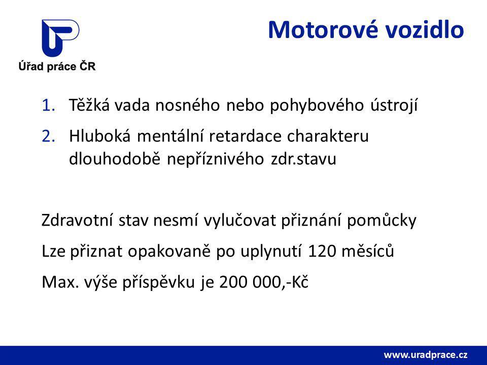 Motorové vozidlo Těžká vada nosného nebo pohybového ústrojí