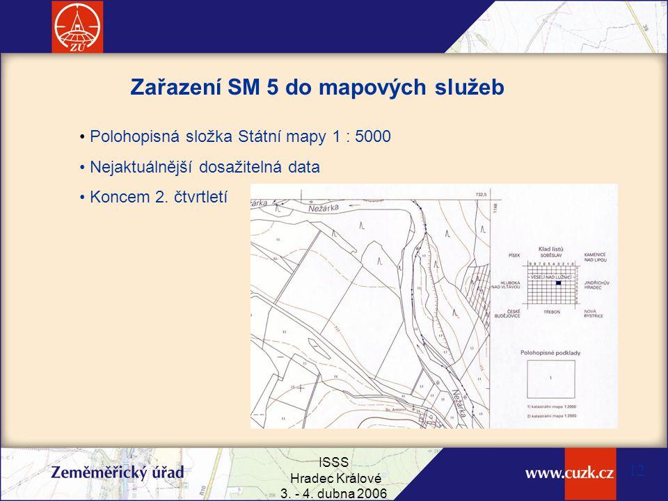 Zařazení SM 5 do mapových služeb