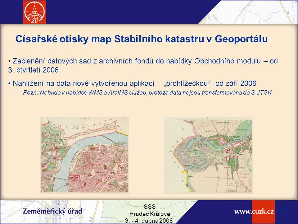 Císařské otisky map Stabilního katastru v Geoportálu