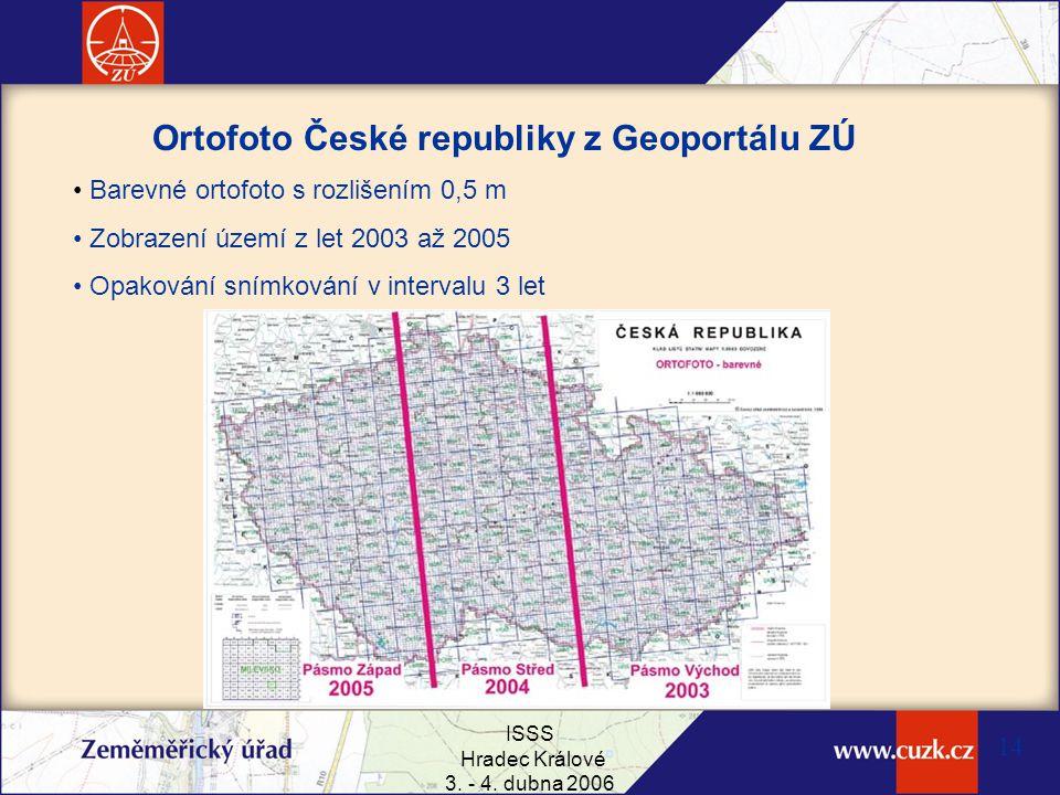 Ortofoto České republiky z Geoportálu ZÚ