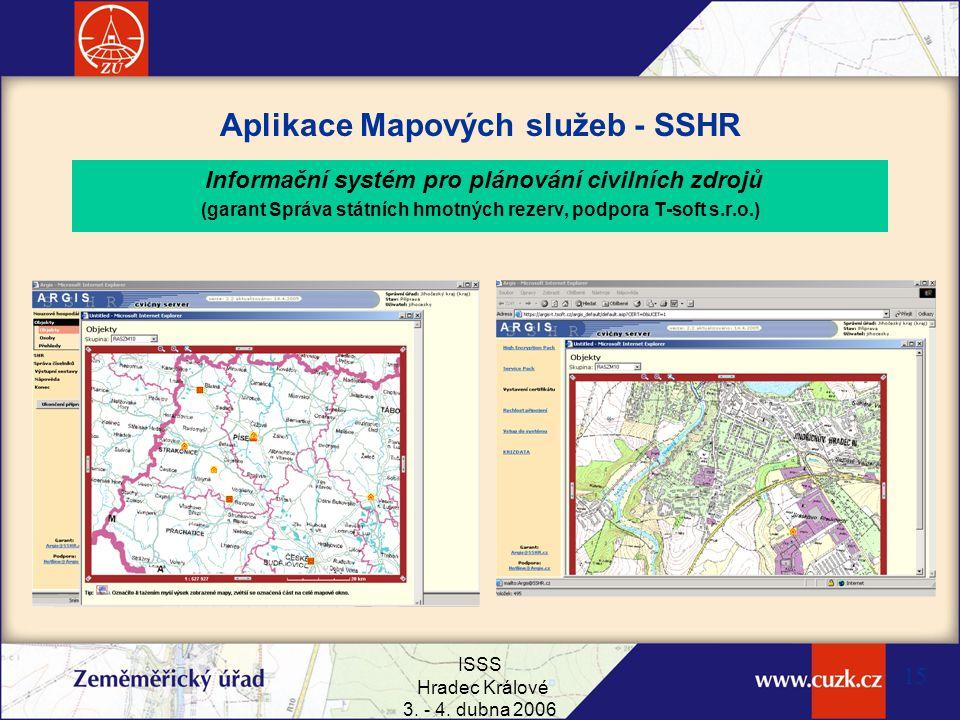 Aplikace Mapových služeb - SSHR