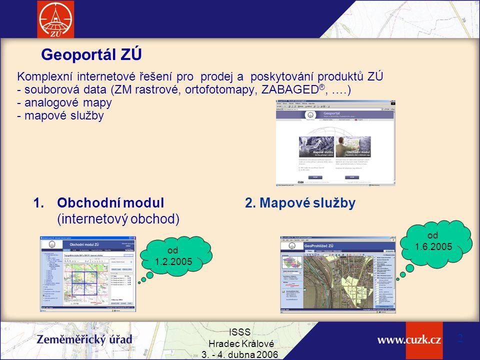 Geoportál ZÚ Obchodní modul (internetový obchod) 2. Mapové služby