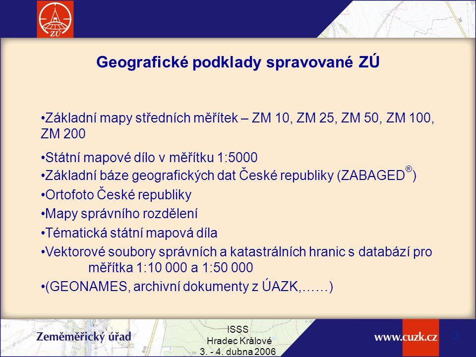 Geografické podklady spravované ZÚ