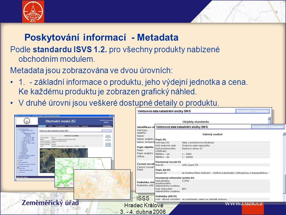 Poskytování informací - Metadata
