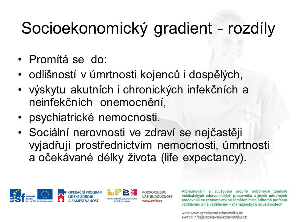 Socioekonomický gradient - rozdíly