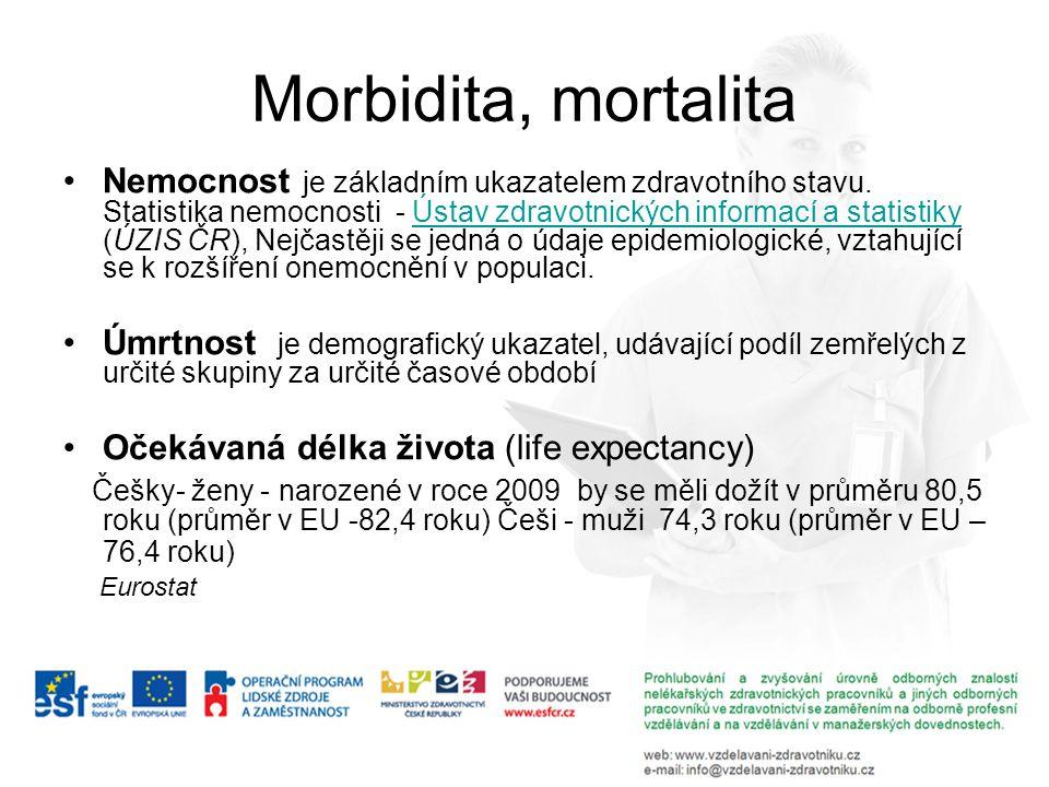 Morbidita, mortalita