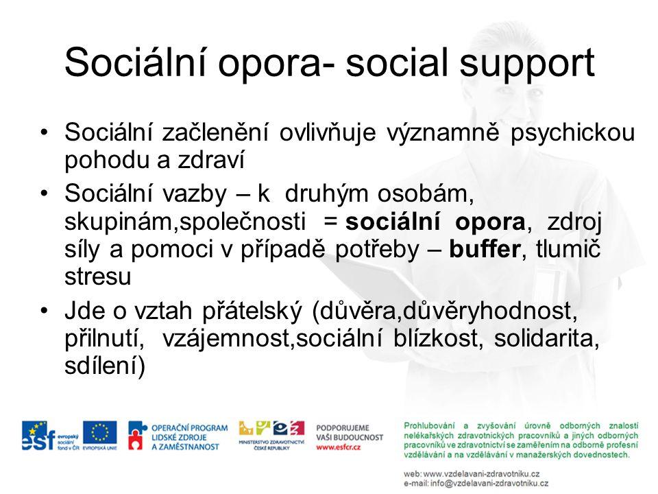 Sociální opora- social support