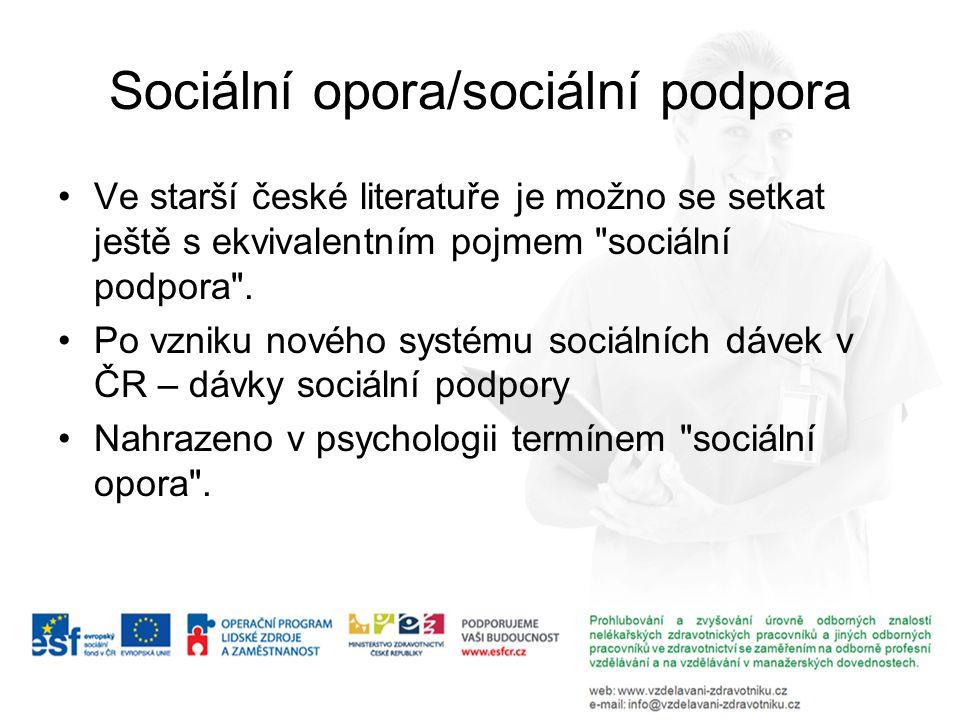 Sociální opora/sociální podpora
