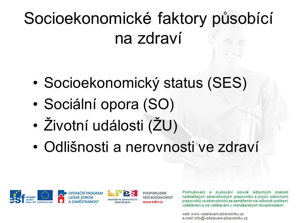 Socioekonomické faktory působící na zdraví