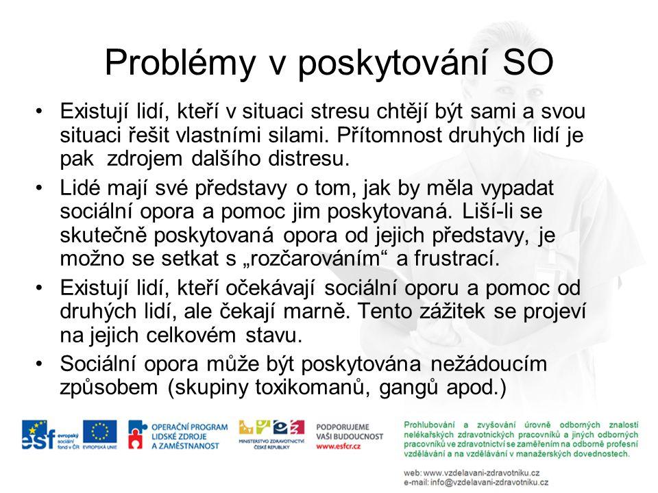Problémy v poskytování SO