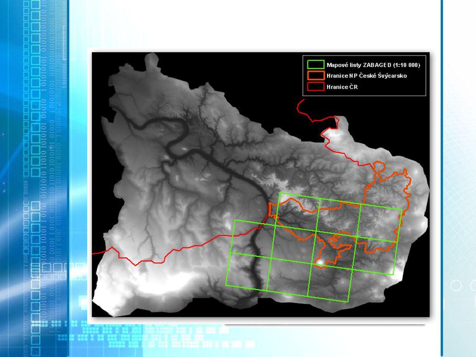 Vstupní data Data laserového skenování pro oblast NP České Švýcarsko