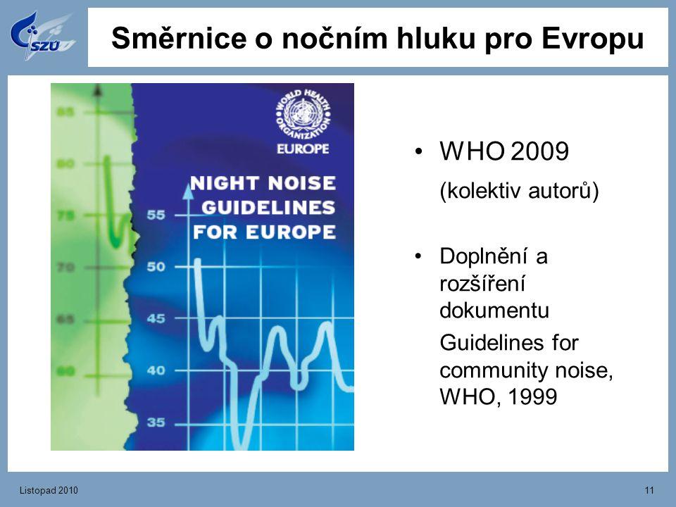 Směrnice o nočním hluku pro Evropu
