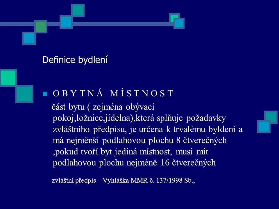 zvláštní předpis – Vyhláška MMR č. 137/1998 Sb.,