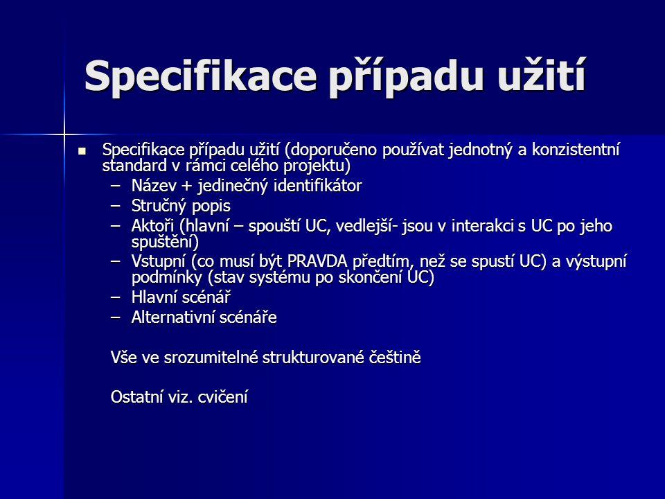 Specifikace případu užití