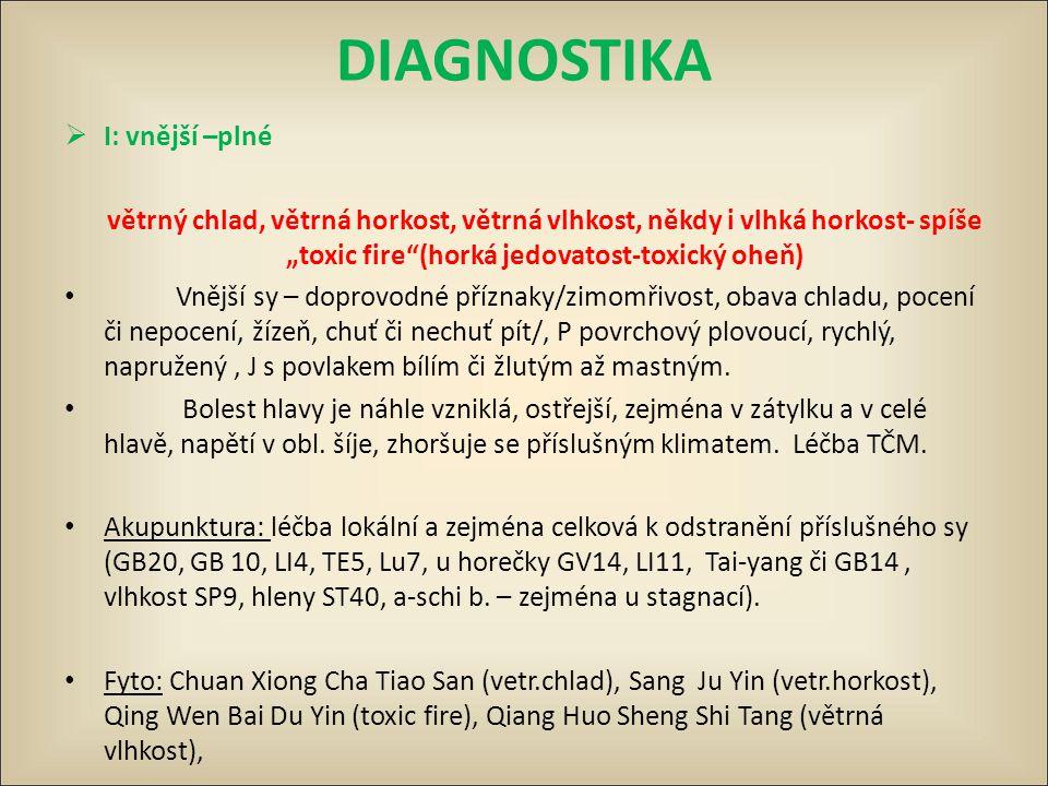 DIAGNOSTIKA I: vnější –plné