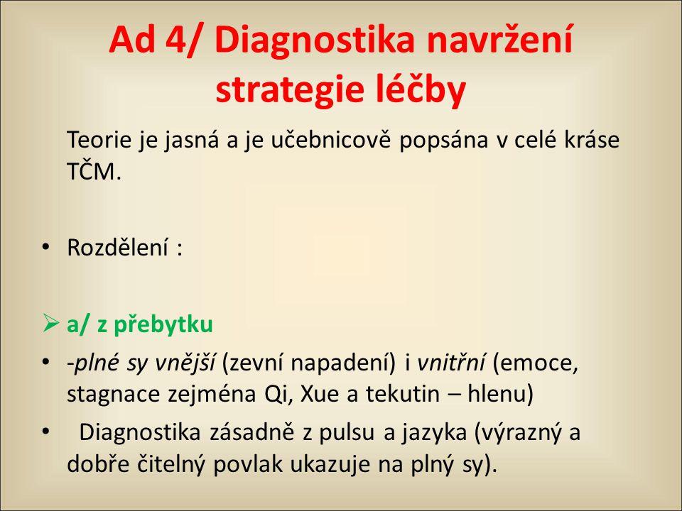 Ad 4/ Diagnostika navržení strategie léčby