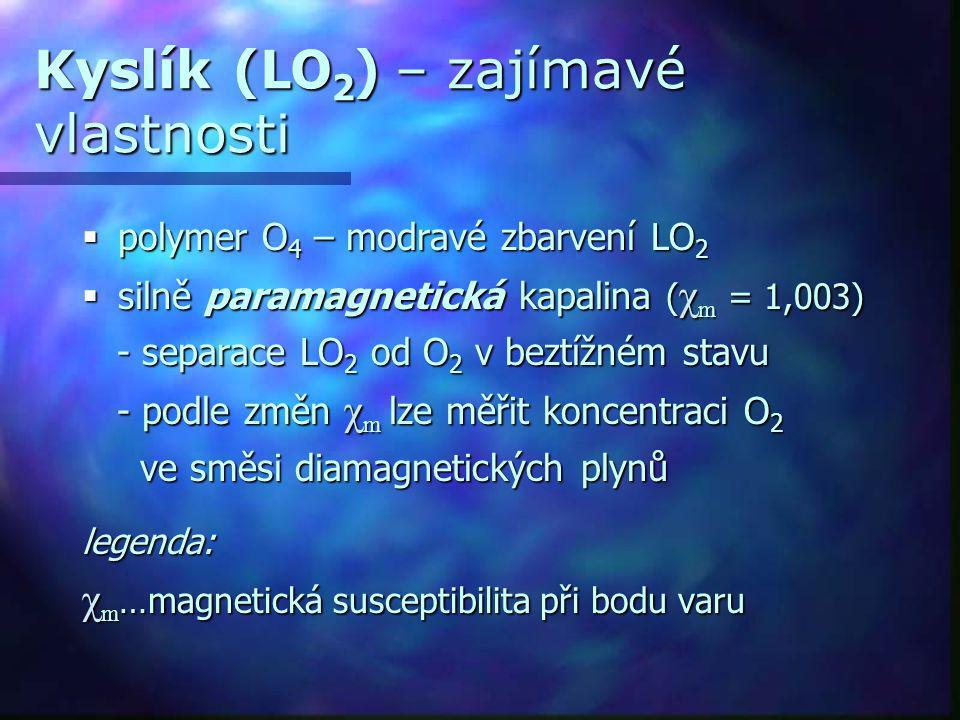 Kyslík (LO2) – zajímavé vlastnosti
