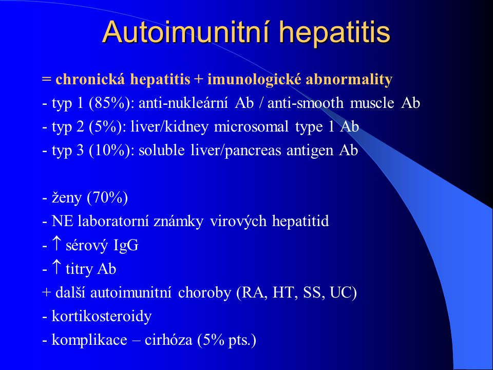 Autoimunitní hepatitis