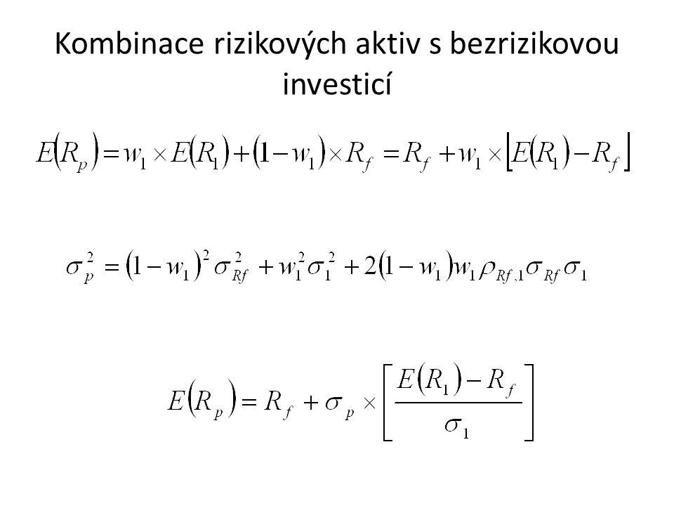 Kombinace rizikových aktiv s bezrizikovou investicí