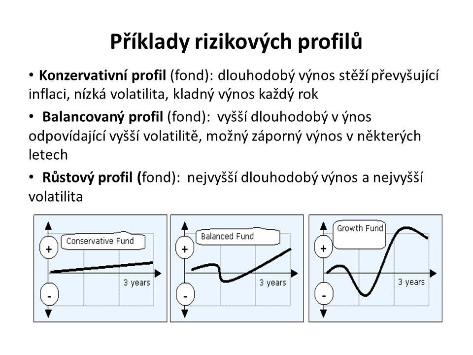 Příklady rizikových profilů