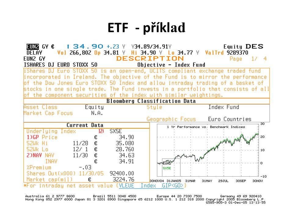 ETF - příklad