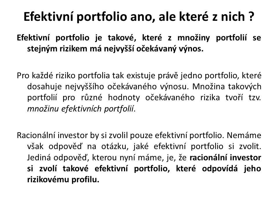 Efektivní portfolio ano, ale které z nich