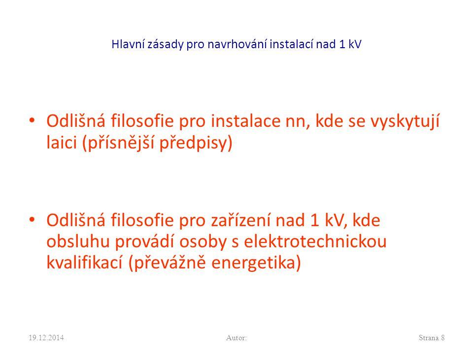 Hlavní zásady pro navrhování instalací nad 1 kV