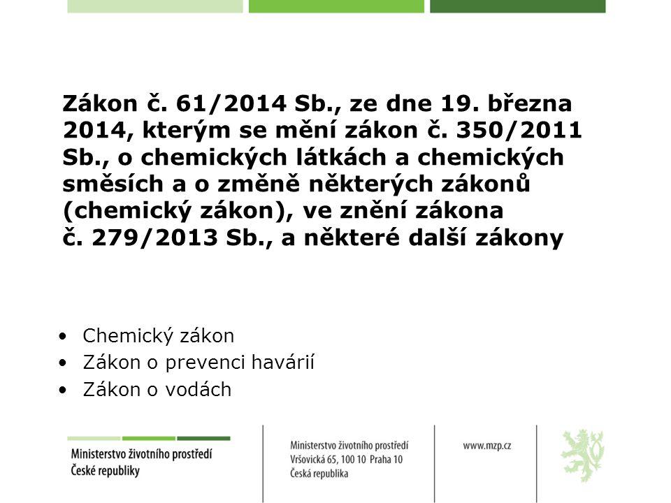 Zákon č. 61/2014 Sb. , ze dne 19. března 2014, kterým se mění zákon č