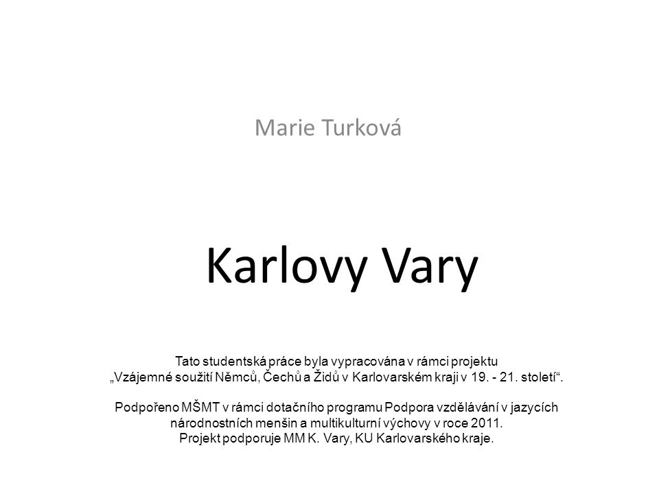 Karlovy Vary Marie Turková