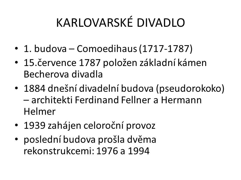 KARLOVARSKÉ DIVADLO 1. budova – Comoedihaus (1717-1787)