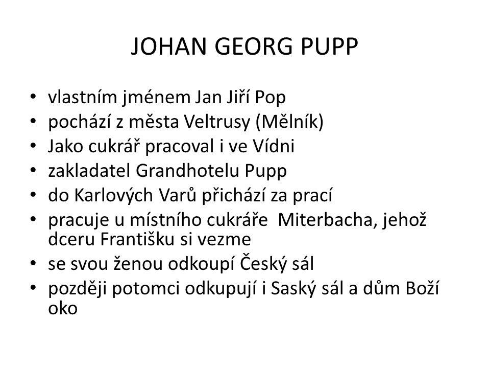 JOHAN GEORG PUPP vlastním jménem Jan Jiří Pop