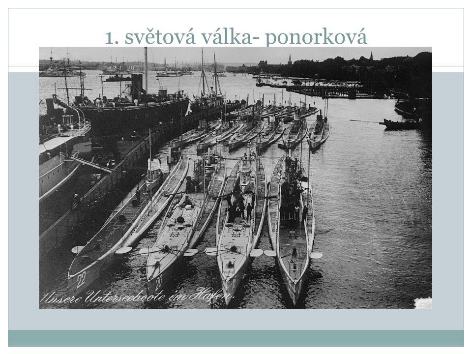 1. světová válka- ponorková