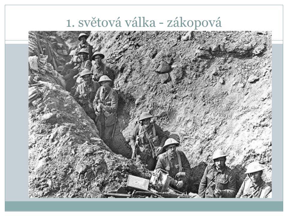 1. světová válka - zákopová