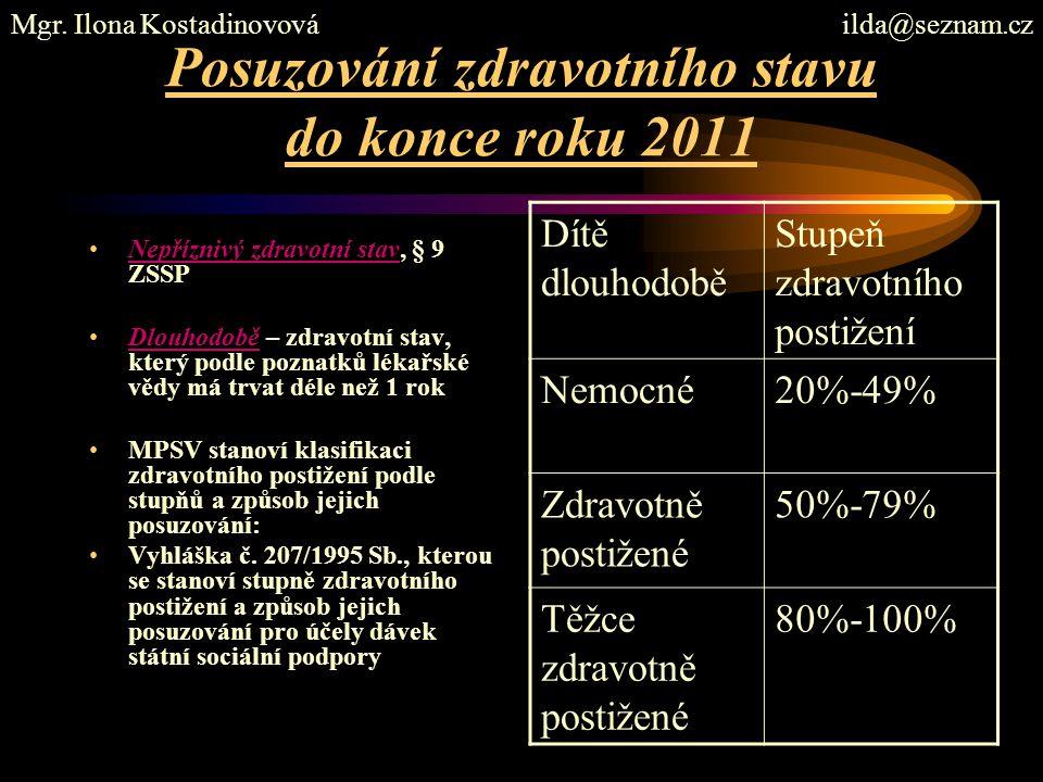 Posuzování zdravotního stavu do konce roku 2011