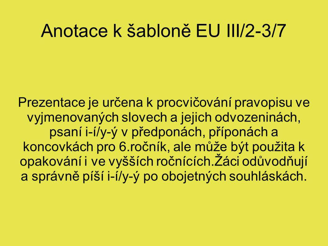 Anotace k šabloně EU III/2-3/7