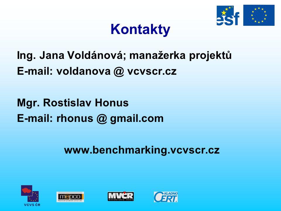 Kontakty Ing. Jana Voldánová; manažerka projektů
