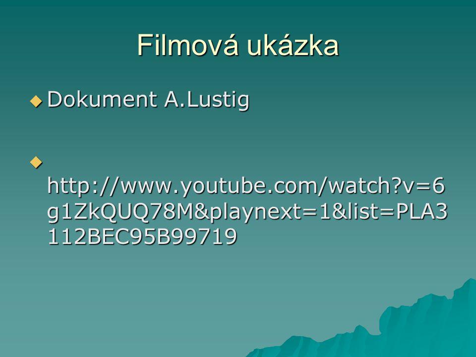 Filmová ukázka Dokument A.Lustig
